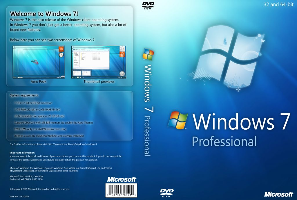 Windows 7 Professional Product key ISO 64 bit [ Activation key ]